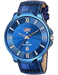 Armado AR-5002-BLU Stylish Day and Date Analogue Watch-for Men