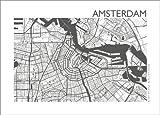 Poster 40 x 30 cm: Map of Amsterdam di 44spaces - Stampa Artistica Professionale, Nuovo Poster Artistico