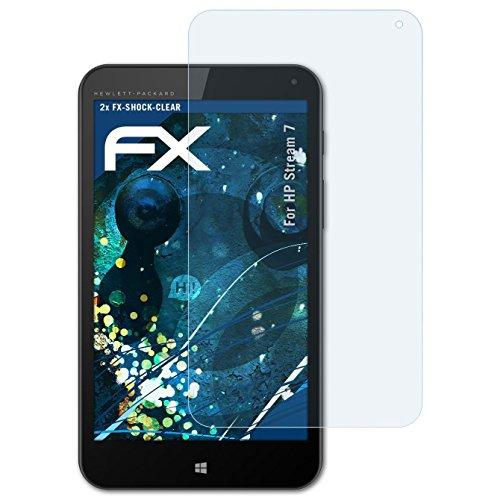 atFolix Schutzfolie kompatibel mit HP Stream 7 Panzerfolie, ultraklare und stoßdämpfende FX Folie (2X)