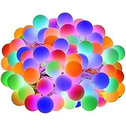 LE 10m LED Tenda Luminosa con Catena di Luci con 100 LED RGB Impermeabile, 8 Modalità di Illuminazione con Funzione Memoria, Ideale per Decorazioni Esterne ed Interne, Balcone, Natale, Feste
