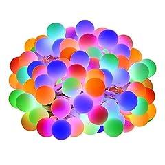 Idea Regalo - LE 10m LED Tenda Luminosa con Catena di Luci con 100 LED RGB Impermeabile, 8 Modalità di Illuminazione con Funzione Memoria, Ideale per Decorazioni Esterne ed Interne, Balcone, Natale, Feste