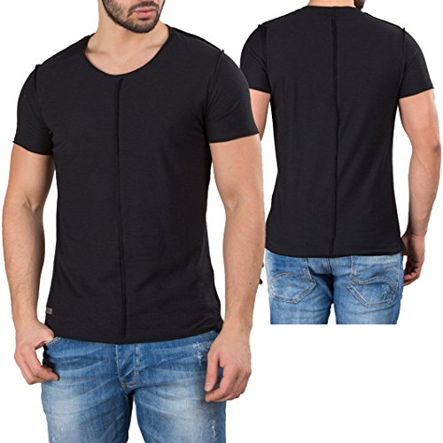 Red Bridge Herren T-Shirt Kurzarm Decision Thread Inside Out Nähte Schwarz