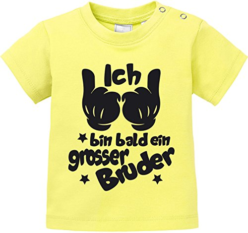 2004 Gelben T-shirt (EZYshirt® Ich bin bald ein grosser Bruder Baby T-Shirt)