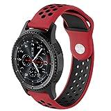 VNEIRW Bracelet de montre en silicone souple pour Samsung Gear S3 Frontier Unisexe...