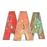 Fantastik - Letra de madera reciclada (A)