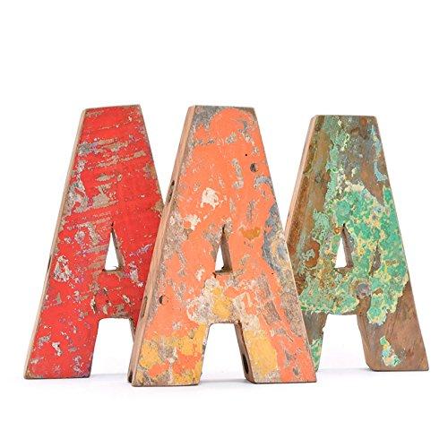 Letra A de madera reciclada - Fantastik