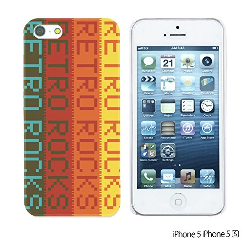 OBiDi - Typography Pattern Hard Back Case / Housse pour Apple iPhone SE / Apple iPhone 5S / 5 - Life Retro Rocks