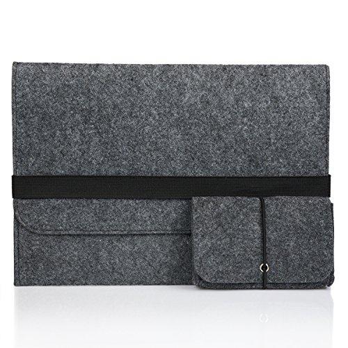 MR Goods Filz Laptop-Hülle – Extra Weiche Hülle für den zuverlässigen Schutz und das moderne Design – für alle gängigen Modelle bis 13,3 Zoll Macbook Pro Air iPad Microsoft Surface ASUS Acer HP Dell