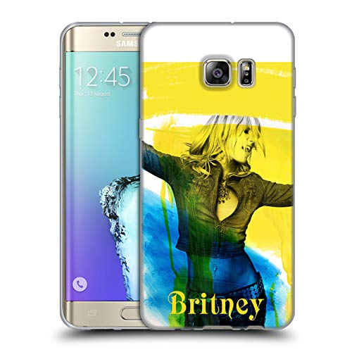 Head Case Designs Offizielle Britney Spears Poster 2001 Album Covers Soft Gel Huelle kompatibel mit Samsung Galaxy S6 Edge+ / Plus Edge Spear