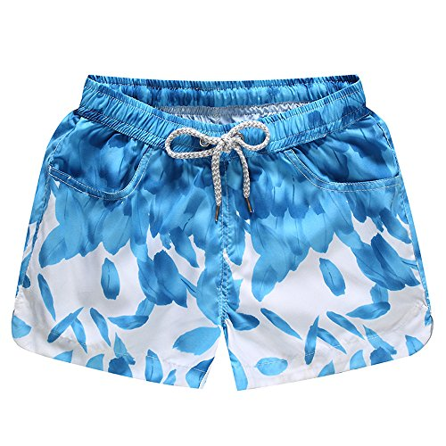 Beonzale Sommer Womens Shorts Badehose schnell trocken Strand Surfen Laufen Schwimmen Wasser Hosen Drucken ()