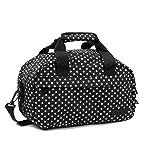 Members Essential On-Board Ryanair Compliant Second Hand Baggage in Black & White Polka Dot