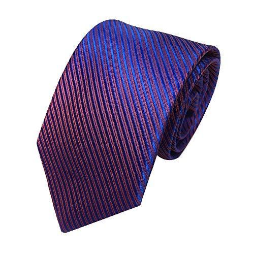Xmiral Herren Krawatte Klassische Jacquard Gewebte Streifen Passen für Arbeit Lässig Party Hochzeit (Mehrfarbig)