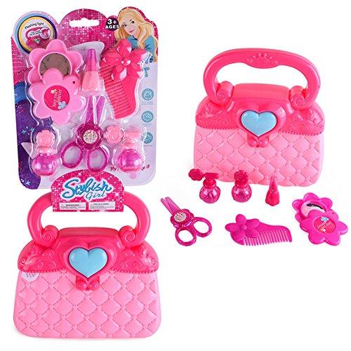 Kleine Mädchen täuschen Make-up-Set Kosmetik Beauty Salon Spielzeug vorgeben Dress-up Vanity Kit für Kleinkinder Kind mit Spiegel Kinder Make-up Kit1 Set