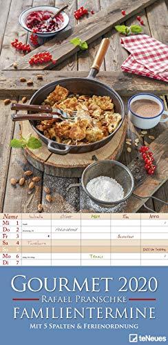 Gourmet 2020 Familienplaner - Küchenkalender - Monatsplaner mit 5 Spalten - Familientermine - 22x45cm - Rafael Pranschke