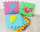 Style home Kinderfreundlich nach neuer RICHTLINIE (EU) 2015/2115 Bodenmatte Puzzlematte Spielteppich Kinderteppich Spielmatte Lernteppich SH-KPM-A1