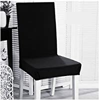 Beddingleer 6PCS Chair Seat Cover Removable Washable Dining Chair Covers Restaurant Slipcovers for Weddings Banquet Folding Hotel Decoration Decor (Style#2)