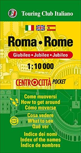 Roma, centrocitta. Plano callejero de bolsillo impermeable. Escala 1:10.000. Touring Club Italiano. (Centrocittà pocket)