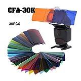 Falcon Eyes CFA-30K Kit Flash Speedlite 30 Farben Farbe Gel Kit mit Barndoor & Reflektor & Tasche für Canon Nikon YONGNUO GODOX Flash
