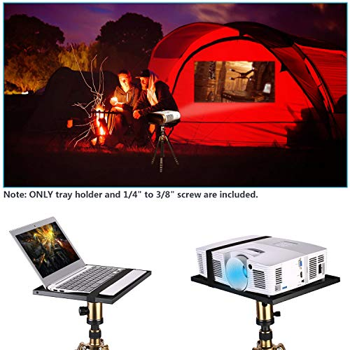 """Neewer Laptop Notebook Pallet Projector Tray Holder for 1/4"""" to 3/8"""" Screw Tripod Stand Mount, Widely Use in Stage, Meeting Rooms, Outdoor, Classrooms, Lecture Halls (Tripod Stand Not Included)"""