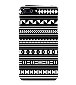 FUSON Greek Key Pattern Background 3D Hard Polycarbonate Designer Back Case Cover for Apple iPhone 7 Plus
