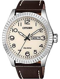 Citizen Reloj de hombre de Eco Drive piel bm8530 ...