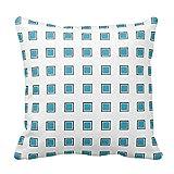 DSL&HXY Pillow Case 18x18 Blue Abstract Stripe Designed Throw Pillow Case 18x18(AA-7,18X18)