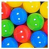 100 Stück Bälle Bunte für Bällebad oder Pool strapazierfähiges Material Bällepool...