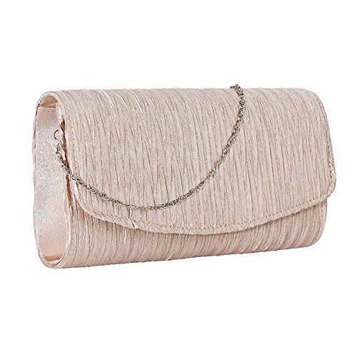 Lifewish Sacchetto di frizione della busta della borsa del merletto delle donne per il sacchetto nuziale di promenade della borsa di cerimonia nuziale Beige