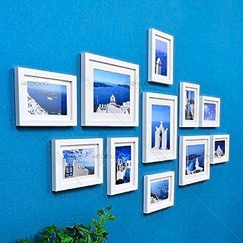 Artzfolio Wall Photo Frame White 5X7-8Pc;6X8-3Pc;Set of 11 Pcs with Mount
