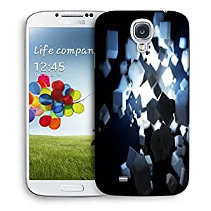 Snoogg Black And White Cubes Printed Protective Phone Back Case Cover For Samsung S4 / S IIII