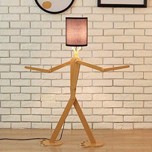 LAMPES À PLANCHER INTÉRIEUR ZXC YWXLight DIY Assembly Home Lighting Lampadaire en bois (Couleur : Black)