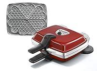 Puissance : 1000 W Thermostat de sécurité et voyant de contrôle Gaufrier réversible sur socle 6 gaufres en forme de coeur en simultané Multifonction avec des plaques interchangeables vendues séparément chez LAGRANGE 2 plaques indépendantes fixées par...