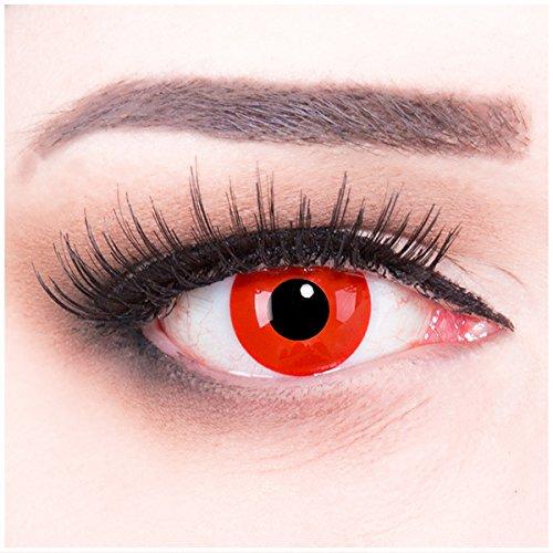 Monster Kontaktlinsen (Meralens A0535 Red Monster Kontaktlinsen mit Behälter mit Stärke, 1er Pack (1 x 2)