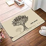 Tandi Tür Eingangstür Fuß Cartoon Baum Wald Matte Badezimmer Boden Matte Schlafzimmer Wohnzimmer, E