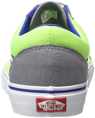 Vans U Old Skool, Baskets Basses Mixte Adulte Multicolore (Brite Frost Gray/Neon Green)