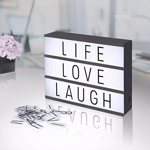 Leuchtschild Leuchtkasten mit 203 Buchstaben / Ziffern / Symbole / Emoji Freien Kombination DIY A4 LED Lichtbox Leichte Box Filmische, Leuchten Ihrem Leben, Überraschung Geschenk Urlaub Dekoration (Zeichnen, Sie Star Können Wars)