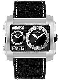 Jacques Lemans Herren-Armbanduhr XL Madrid Analog - Digital Quarz Leder 1-1708A