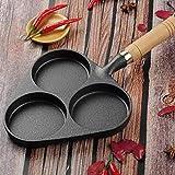 gmjstcq Padella 3 in 1 Antiaderente Professionale Induzione Manico Acciaio AntiGraffio Lavabile Healthy Antracitepan Pancake Crepes,Nero