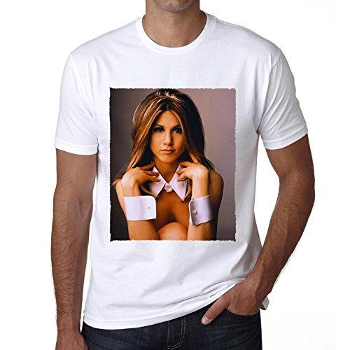 Jennifer Aniston Celebrity :Herren T-shirt - Weiß, M, t shirt herren,Geschenk
