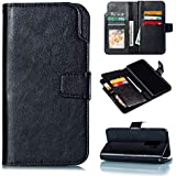 Samsung Galaxy S9 Plus Wallet Case, Danallc Samsung Galaxy S9 Plus Flip Case, Classy Slim Leather Wallet, ID Credit Card Slot Holder For Samsung Galaxy S9 Plus - Black