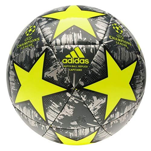 adidas Größe 4 Champions League Fußball Europa-Turnierball Silber/Gelb Alter 8-12 Jahre