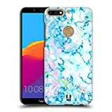 Head Case Designs Aquamarine Schimmerndes Marmor Ruckseite Hülle für Huawei Honor 7C / Enjoy 8