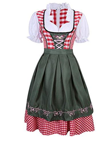 Etbotu Abito da Donna/Dirndl,gonna,Costume per Oktoberfest,vestito Dirndl,formato 34-42
