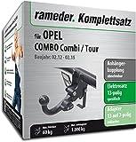 Rameder Komplettsatz, Anhängerkupplung abnehmbar + 13pol Elektrik für OPEL Combo Combi/Tour (113521-10001-1)
