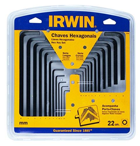 Irwin Hex Allen Key 1.5–10-mm-Schlüssel lang kurz Tasche (Allen Hex Key)