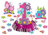 Amscan 280032 - Tisch Deko Set, Sweet Birthday Girl, 4 teilig