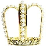 Corona de oro de Princesa- accesorio excepcional para carnavales, fiestas de cumpleaños, fiestas de disfraces o despedidas de soltera - Reina rana