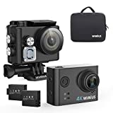 Action Cam 4K Camera WiMiUS Actioncam WiFi Wasserdicht Action-Kamera 2,0 Zoll Helmkamera...