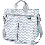 Premium Designer Diaper Bag By Liname - BONUS Changing Pad &Adjustable Shoulder Strap - Everything You Need In One Bag For A Busy Mom And Dad - Easy To Clean And Looks Great