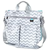 *LIMITED PRICE* Changing Bag by Liname - Premium Quality Stylish Baby Changing Bag - Unisex Diaper Bag With 13 Pockets & Free Nappy Changing Pad Included